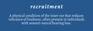 Definition of hearing recruitment